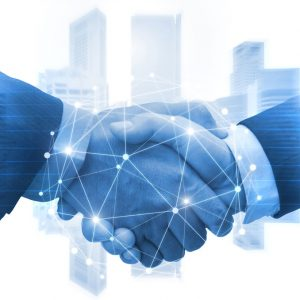 partnership-business-man-shaking-hands-with-effect-digital-network-link-connection-graphic-diagram-digital-global-technology-with-cityscape-background